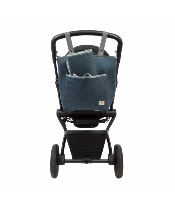 Stroller bag with travel changing mat
