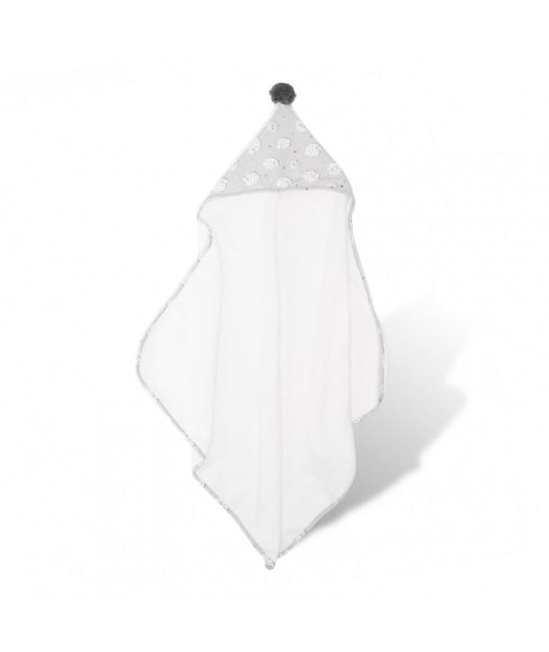 Cape de bain pour nouveau-né avec pompon