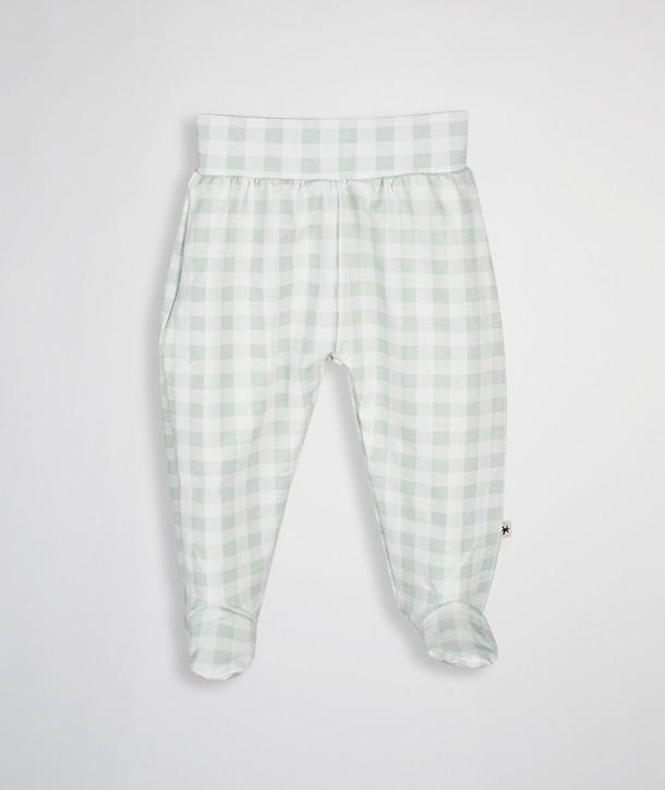 Pantalon à pieds en coton biologique