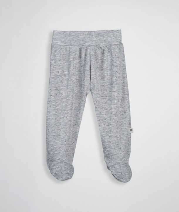 Open-knit pant with feet