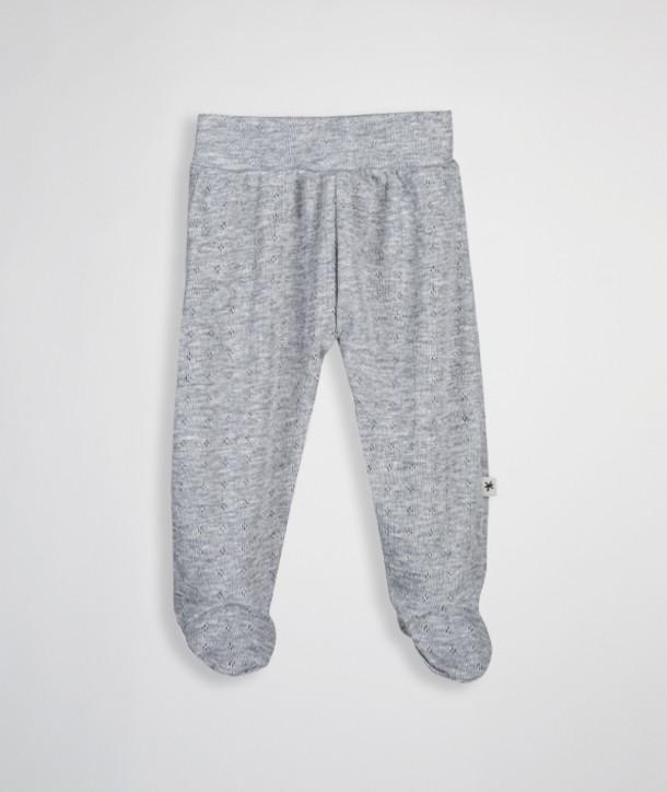 Pantalon à pieds en maille ajourée