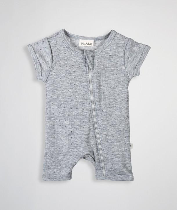 Combinaison courte pour nouveau-né en maille ajourée