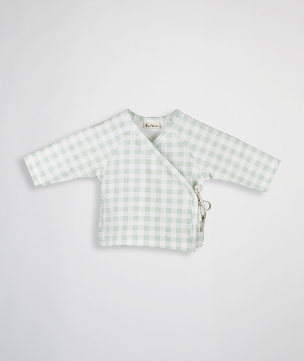 Camisa newborn cruzada de algodón orgánico