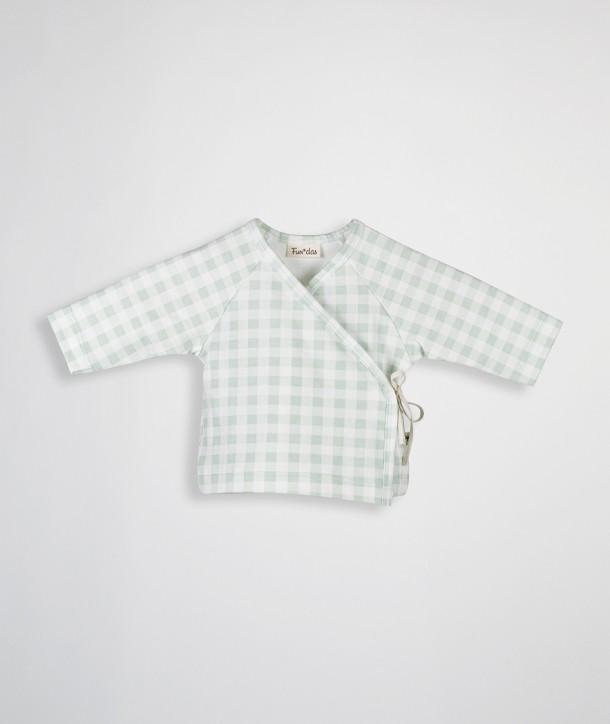 Chemise croisée pour nouveau-né en coton biologique