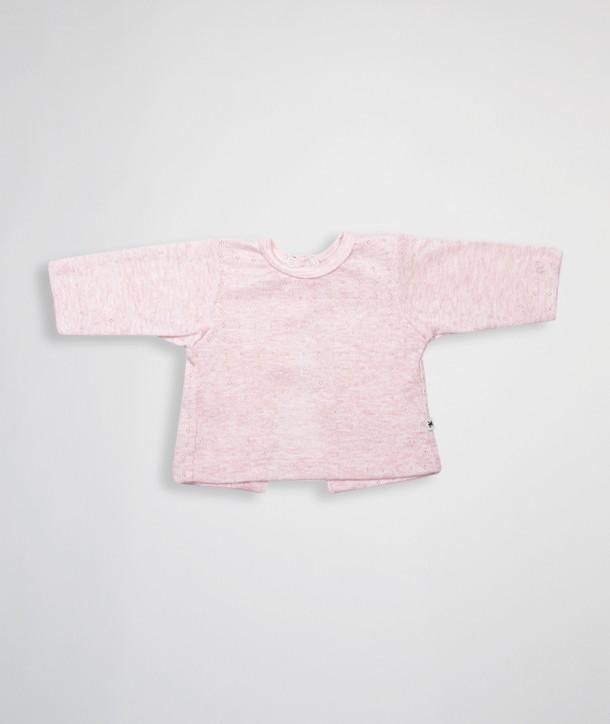 Camiseta newborn espalda abierta de punto calado