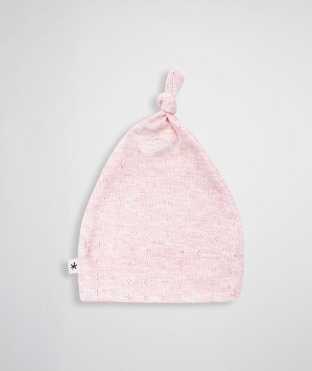Openwork knit beanie for newborns