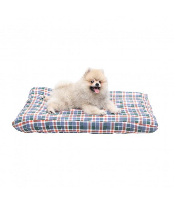 Funda para cama de mascota ( cuadro vichy rojo y verde oscuro)