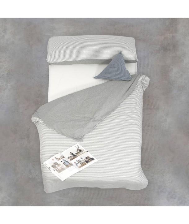 Housse de couette + taie d'oreiller pour lit de 90 cm