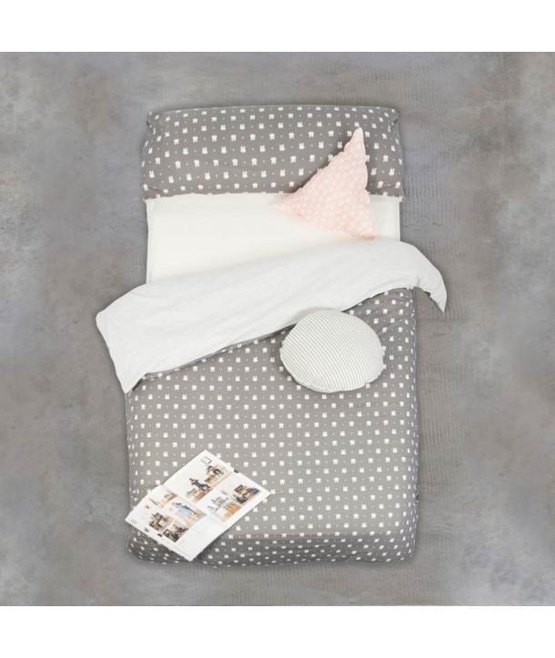 Set of duvet cover + pillowcase for bed of 90 cm