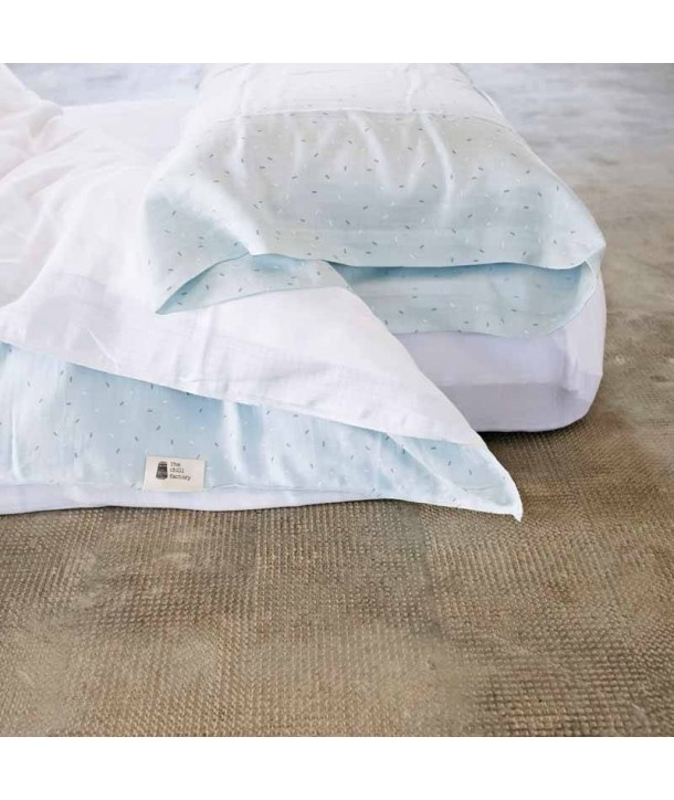 Muslin duvet cover for adult bed